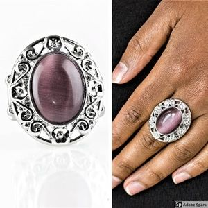 Moonlit Marigold - Purple Moonstone Stretch Ring